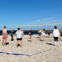 Beachvolleyball-Action