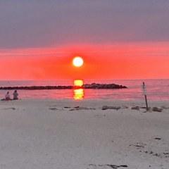 Sonnenuntergang nach einem tollen Tag