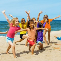 Kindergeburtstag am Strand